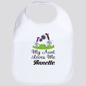 Aunt Loves Me Personalized Baby Bib