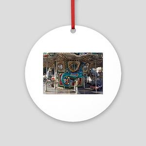 Seahorse Carousal Round Ornament