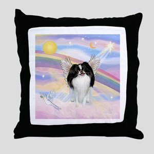 Japanese Chin Angel Throw Pillow