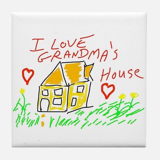 I Love Grandma's House Tile Coaster