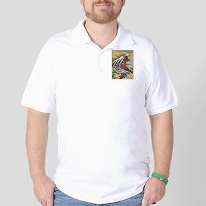 Vintage poster - Yoshitsune Falls Golf Shirt