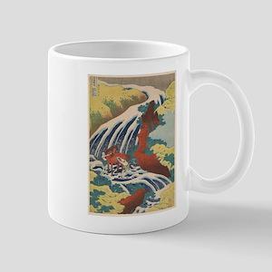 Vintage poster - Yoshitsune Falls Mugs