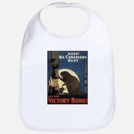 Vintage poster - Victory Bonds Baby Bib
