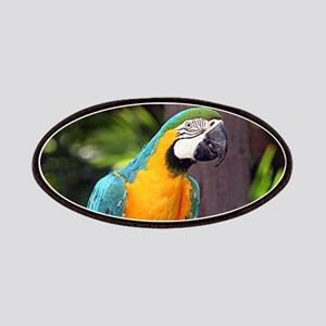 Yellow & blue macaw bird Patch