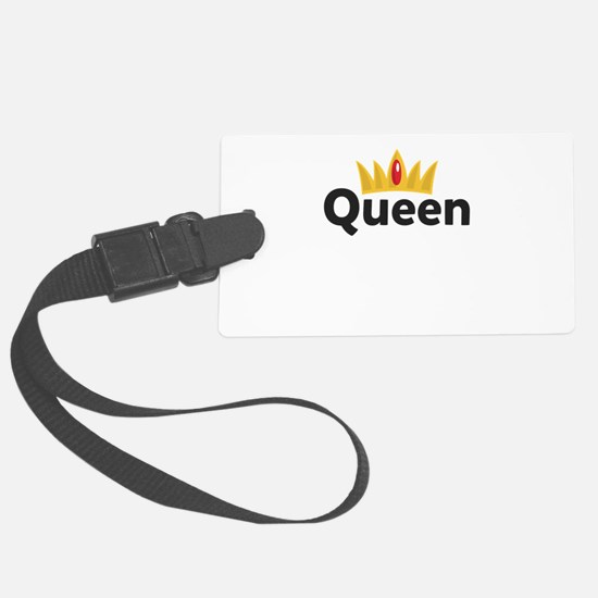 king and queen couple Luggage Tag