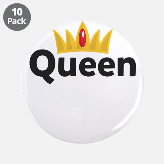 "king and queen couple 3.5"" Button (10 pack)"
