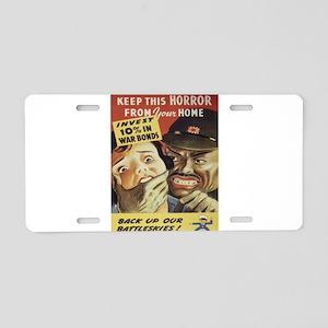 Vintage poster - War Bonds Aluminum License Plate