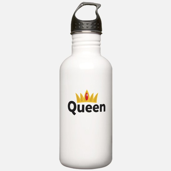 king and queen couple Water Bottle