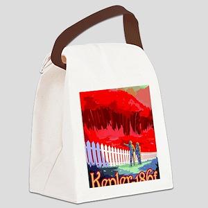 Vintage poster - Kepler-186f Canvas Lunch Bag