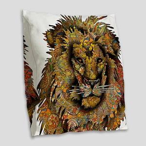 Wild Lion Burlap Throw Pillow