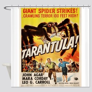 Vintage poster - Tarantula Shower Curtain