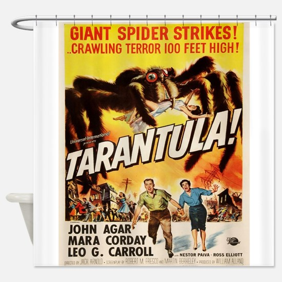 Vintage poster - Tarantula Shower Curtain