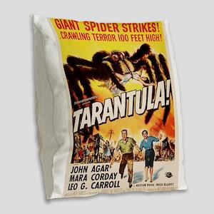 Vintage poster - Tarantula Burlap Throw Pillow