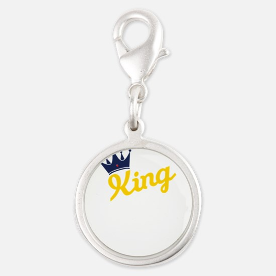 king and quen couple Charms