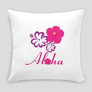Pink Hibiscus Aloha Everyday Pillow
