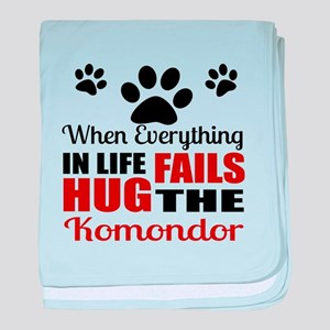 Hug The Komondor baby blanket