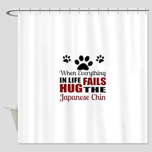 Hug The Japanese chin Shower Curtain