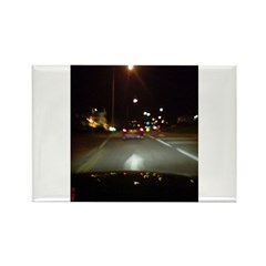 Night Traffic Rectangle Magnet (10 pack)