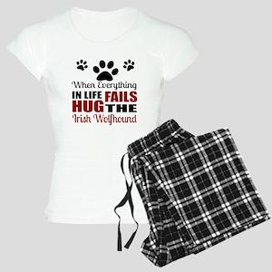Hug The Irish Wolfhound Women's Light Pajamas