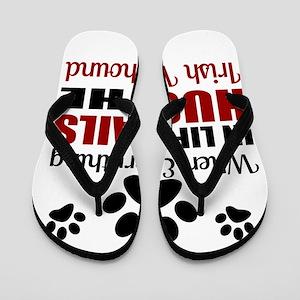 Hug The Irish Wolfhound Flip Flops