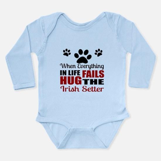 Hug The Irish Setter Long Sleeve Infant Bodysuit