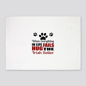 Hug The Irish Setter 5'x7'Area Rug