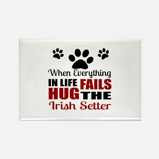 Hug The Irish Setter Rectangle Magnet