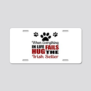 Hug The Irish Setter Aluminum License Plate