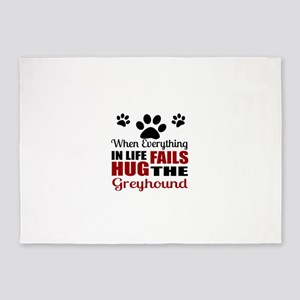 Hug The Greyhound 5'x7'Area Rug
