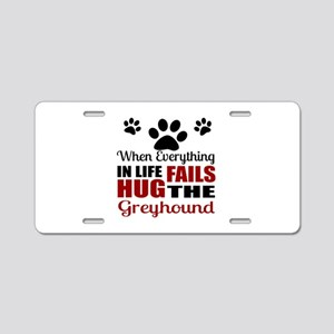 Hug The Greyhound Aluminum License Plate