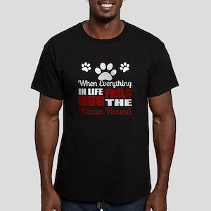 Hug The Ibizan Hound Men's Fitted T-Shirt (dark)