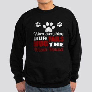 Hug The Ibizan Hound Sweatshirt (dark)