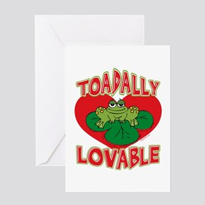 Toadally Lovable Greeting Card