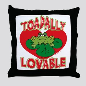 Toadally Lovable Throw Pillow