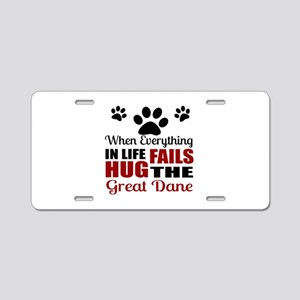 Hug The Great Dane Aluminum License Plate