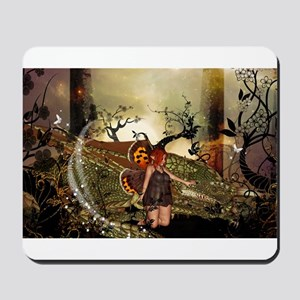 Cute little fairy with dragon Mousepad