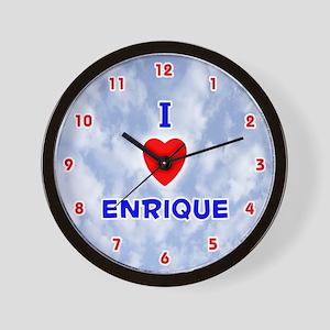 I Love Enrique (Red/Bl) Valentine Wall Clock