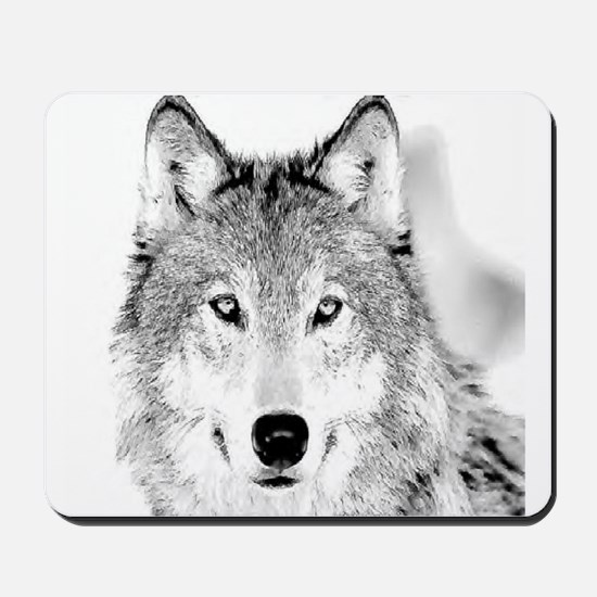 Great White Wolf Mousepad