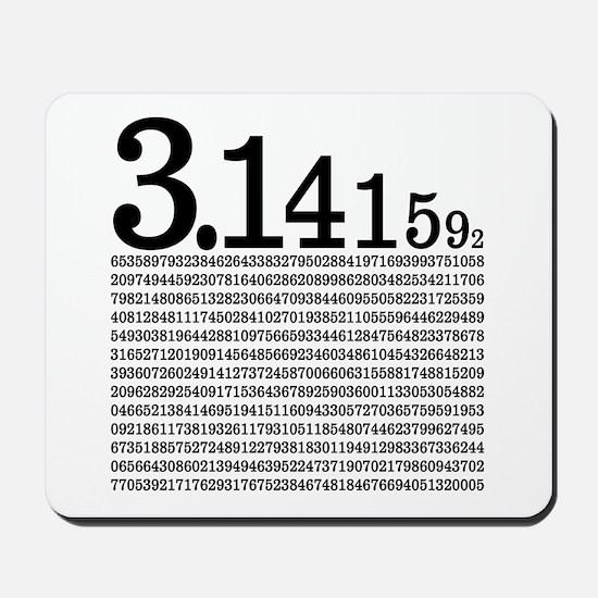 3.1415926 Pi Mousepad