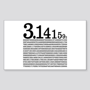 3.1415926 Pi Sticker (Rectangle)