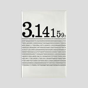 3.1415926 Pi Rectangle Magnet