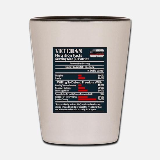 Veteran Nutrition Facts Shot Glass
