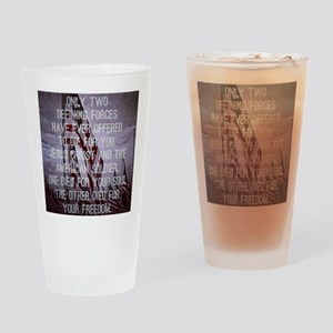 Jesus and the American Soldier Drinking Glass