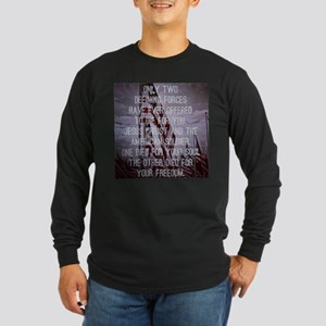 Jesus and the American Soldier Long Sleeve T-Shirt