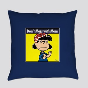 Peanuts Don't Mess With Mom Everyday Pillow