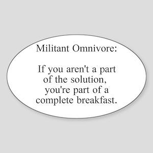 Militant Omnivore Sticker