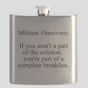 Militant Omnivore Flask