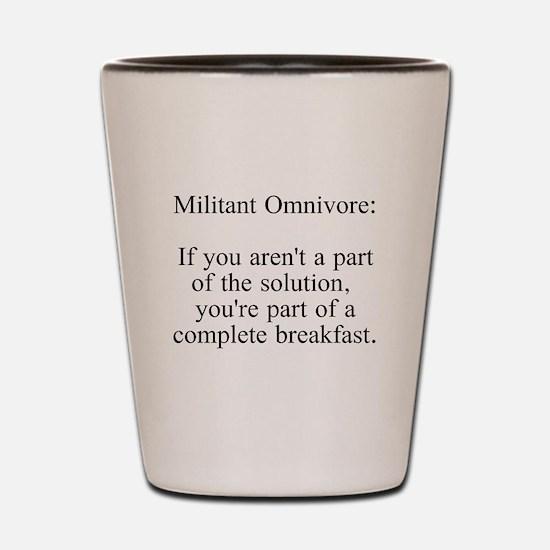 Militant Omnivore Shot Glass