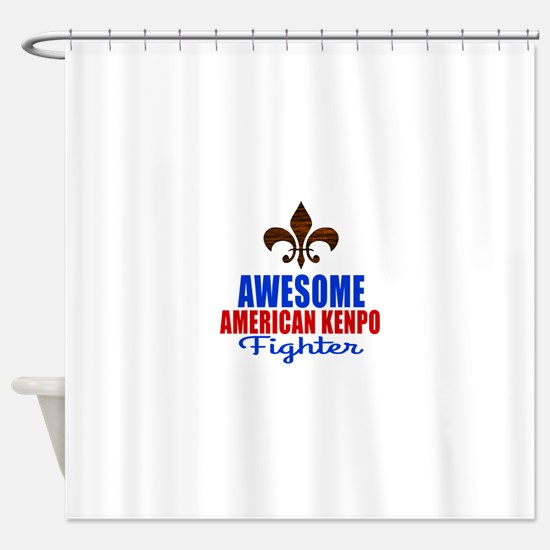 Awesome American Kenpo Fighter Shower Curtain