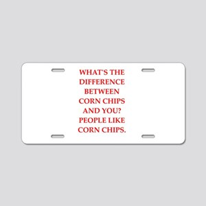corn chip Aluminum License Plate